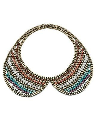 Collars: whether from a necklace or a lace collar on a floaty dress, this old school look is back