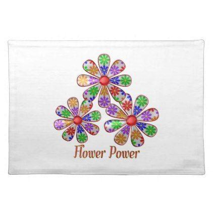 fun flower power cloth placemat kitchen gifts diy ideas decor