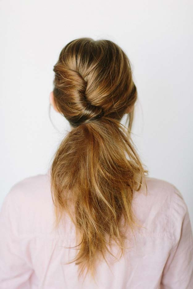 37 Easy Hairstyles for Work | Shoulder length hair, Lazy girl and ...