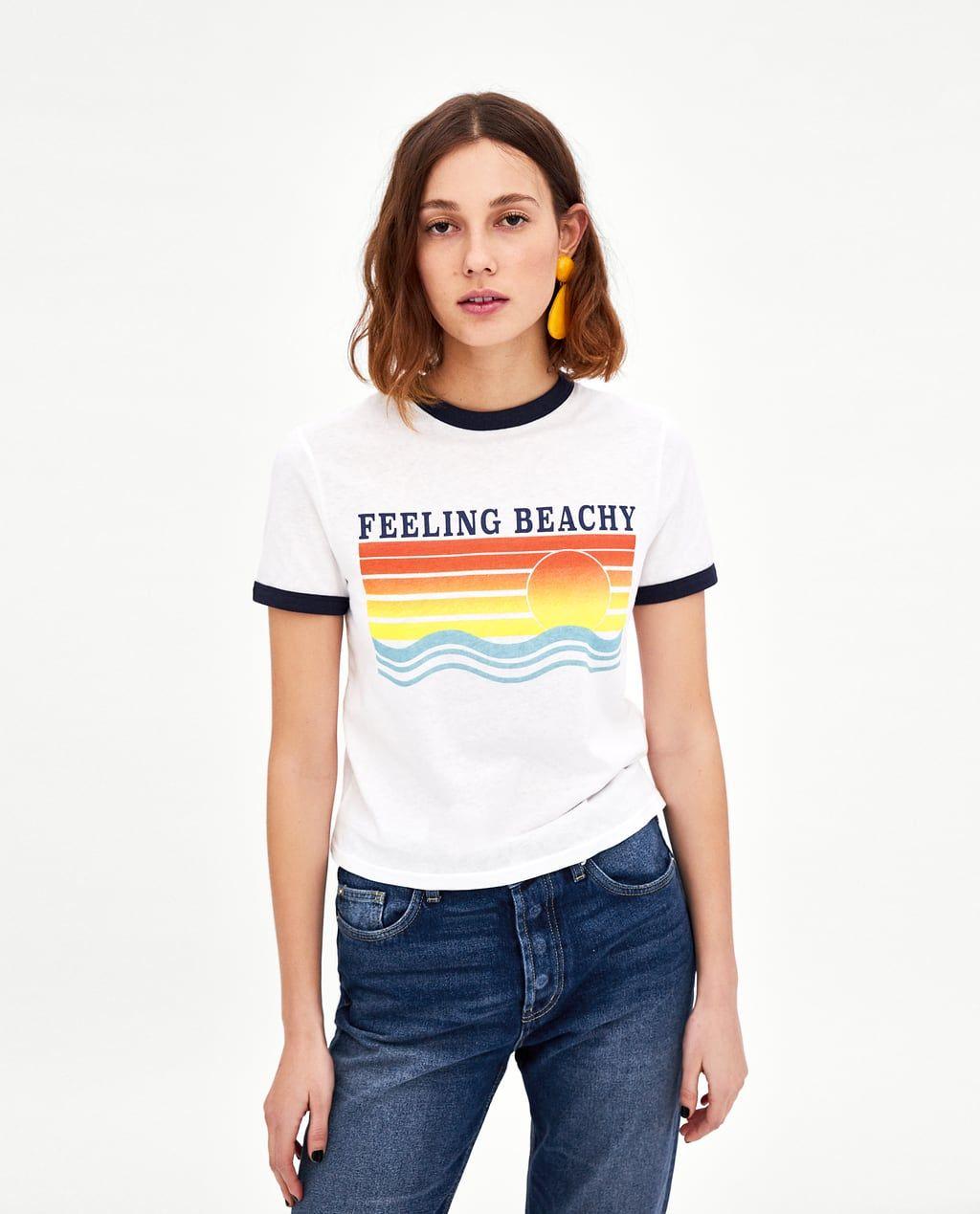 Image 2 Of Printed T Shirt From Zara Great Graphics Zara