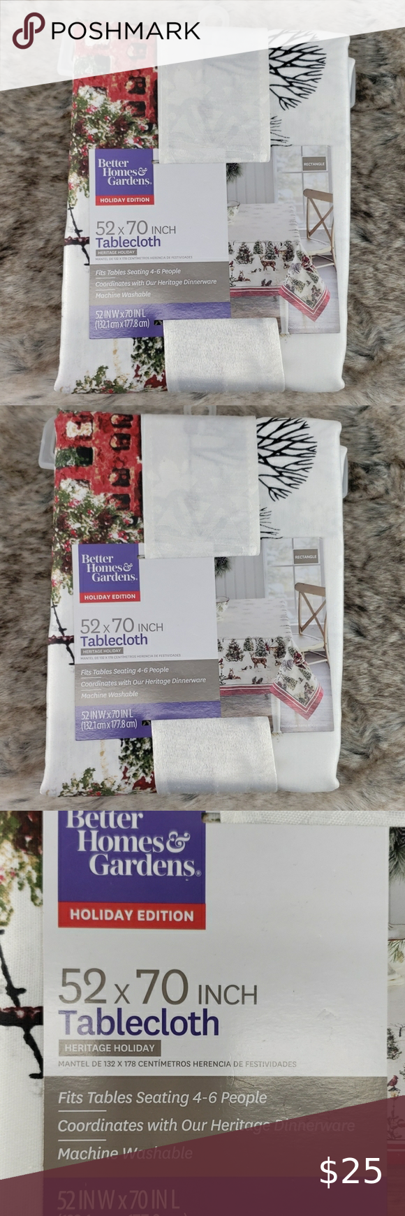 fadc3469a04560f77f611340292c3645 - Better Homes And Gardens Holiday Edition Tablecloth