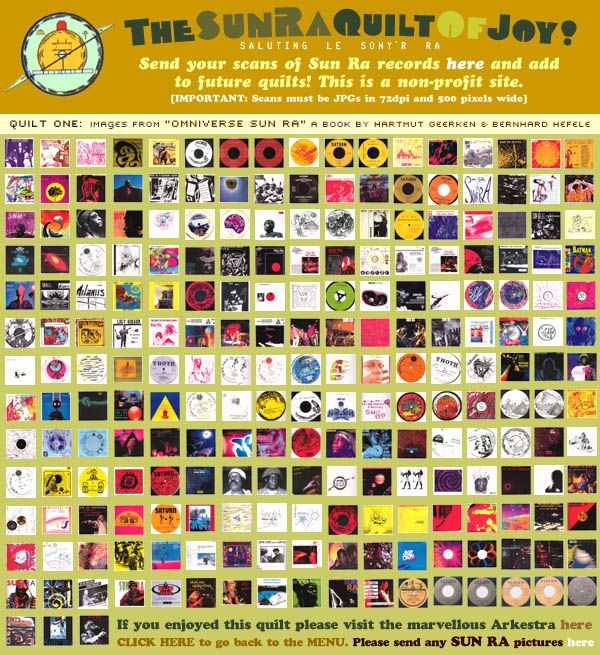 The Sun Ra Quilt of Joy A compendium of album covers from