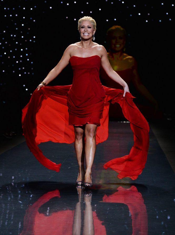 Sportscaster Jill Martin in Annina King 2014 Heart Truth Red Dress fashion show