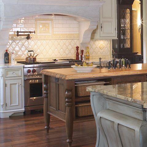HENDEL HOMES Brittany & Coggs - traditional - kitchen - portsmouth - Portico Fine Tile & Design