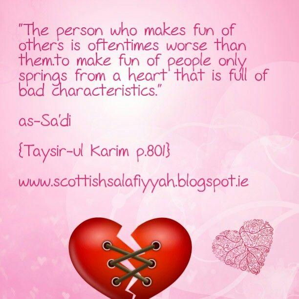 Making Fun Of Others السلف الصلح Islam Islamic Quotes