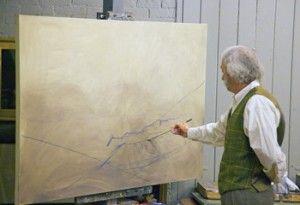 Oil Painting Landscape Tutorial   Step 1