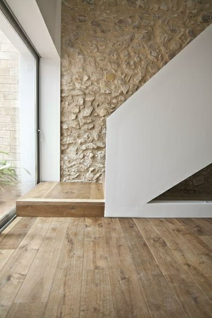 Le Mur En Pierre Apparente En Photos Pinterest Salons House - Mur interieur en pierre apparente