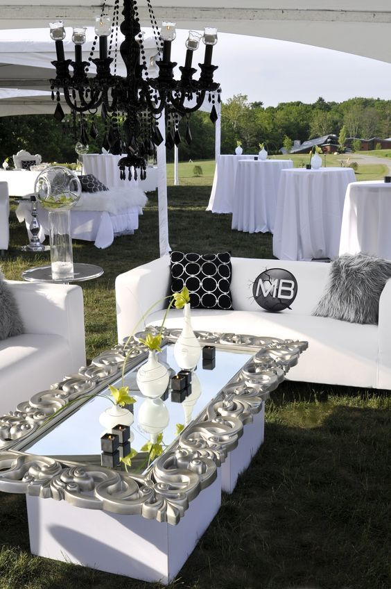 Like The Framed Mirror Coffee Table Top Grand Glam Grad Party Wedding Decor And Design By Something New Events Canfield Ohio