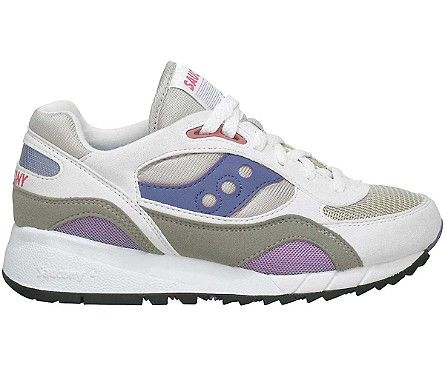 (Limited Supply) Click Image Above: Saucony Shadow 6000 (women's) - White/ grey/amethyst/pomegranite