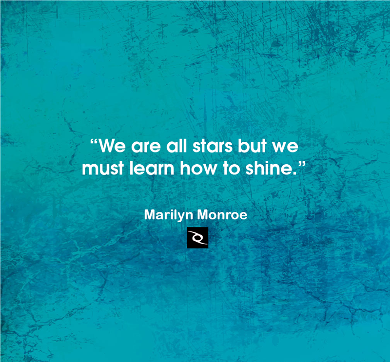 We Are All Stars But We Must Learn How To Shine Marilyn Monroe Inspirational Quotes Best Inspirational Quotes Brainy Quotes