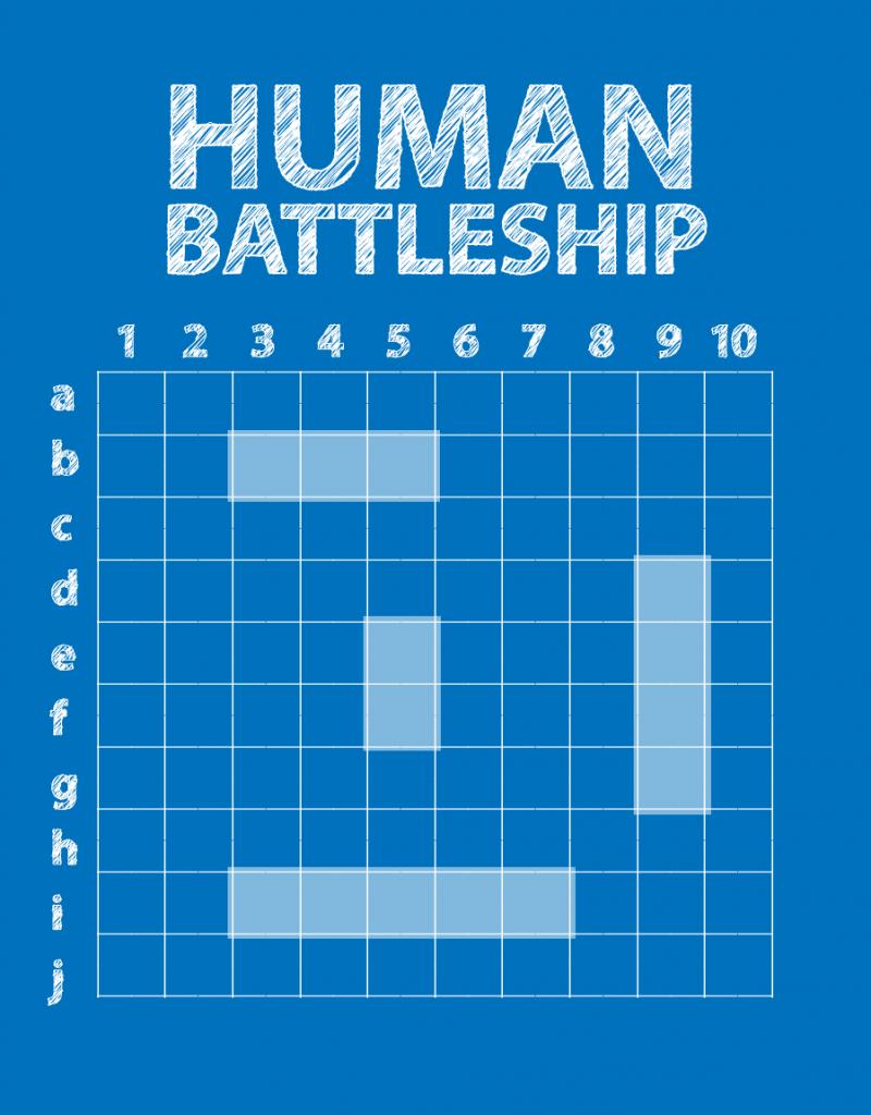 Human Battleship Youth game, Youth games, Church camp games