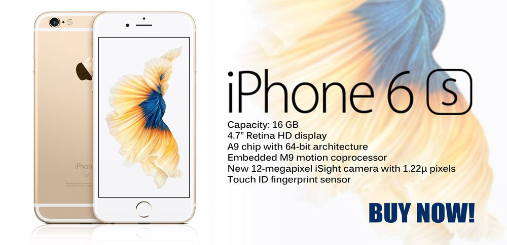 AED 2,805/- Apple #iPhone 6s 16GB Gold LTE, #3D Touch, #12MP Camera, brilliant 4K video, up to four times the resolution of 1080p HD video! Buy Now - http://bit.ly/1LU6MSM or Place an Order Now: +971 4 3589564