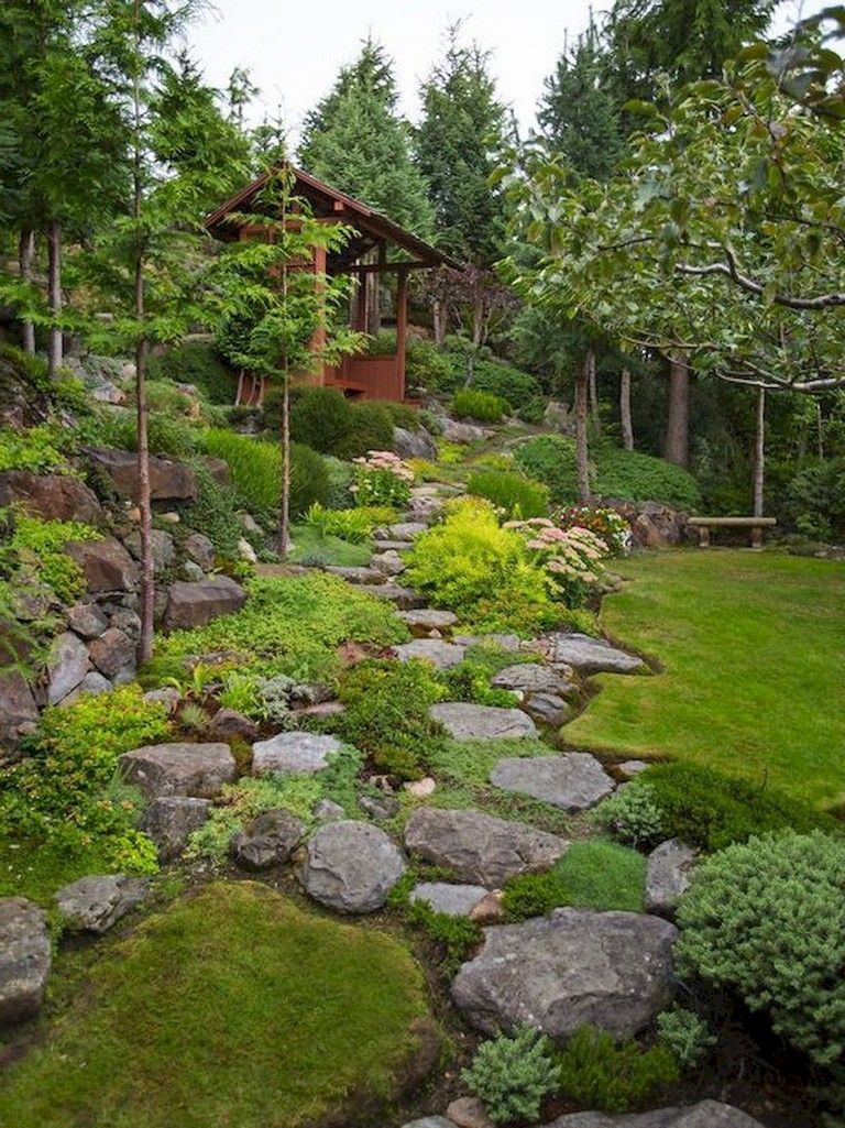 70+ Exciting Front Yard Rock Garden Landscaping Ideas