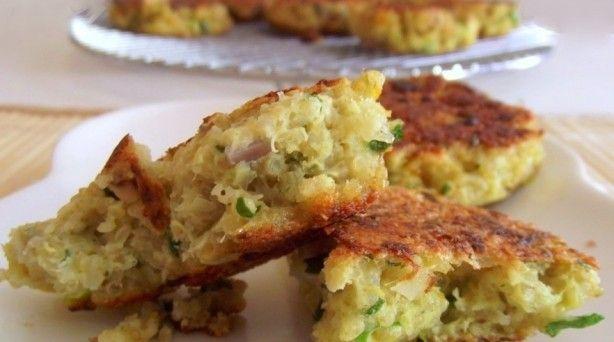garlic & cheese quinoa patties