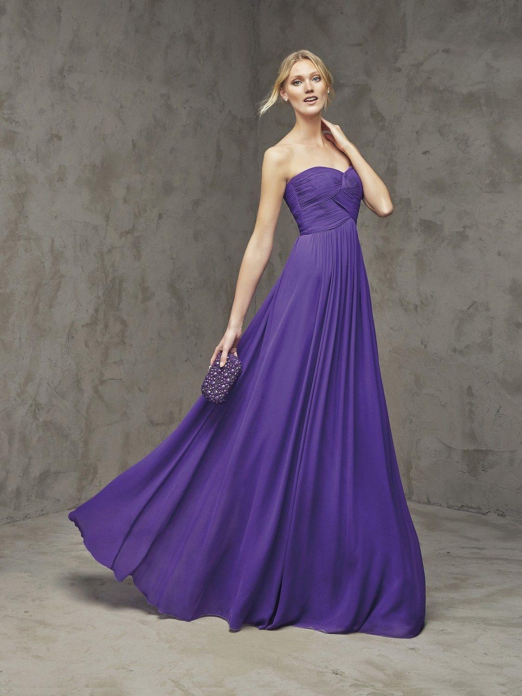 Vestido azul largo escote corazón   vestidos   Pinterest   Vestidos ...