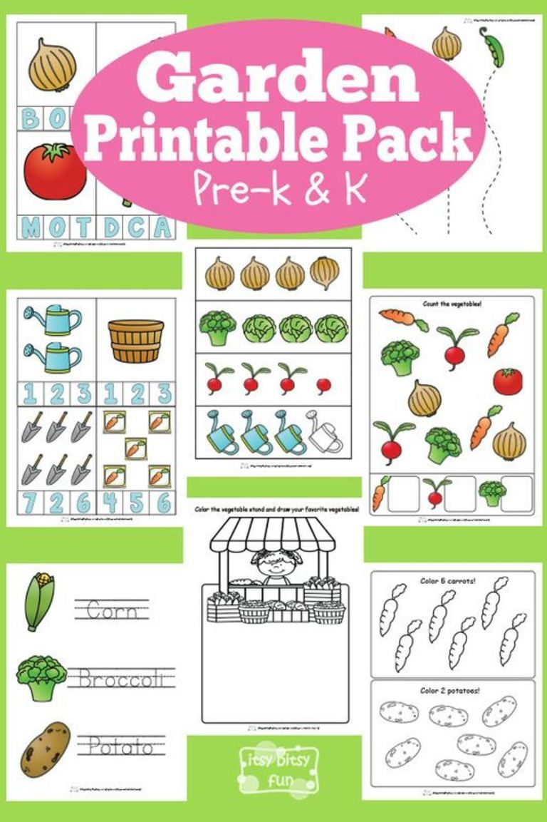 Garden Printable Preschool and Kindergarten Pack | Kindergarten ...