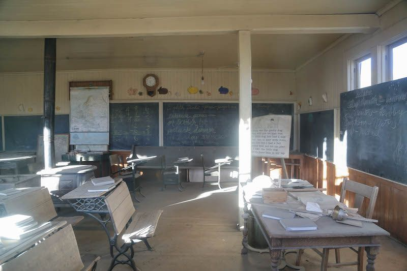 Abandoned #Bodie Schoolhouse Interior - Read about the best preserved ghost town in the US here: http://goroadtrippin.com/site/bodie-state-park/