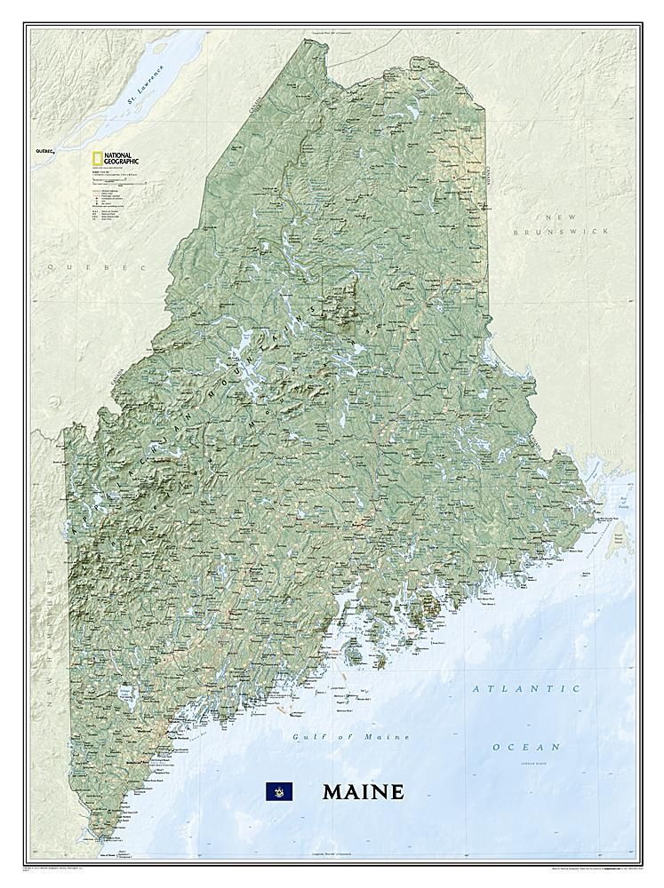 Maine, Tubed by National Geographic Maps | Tolls University ...