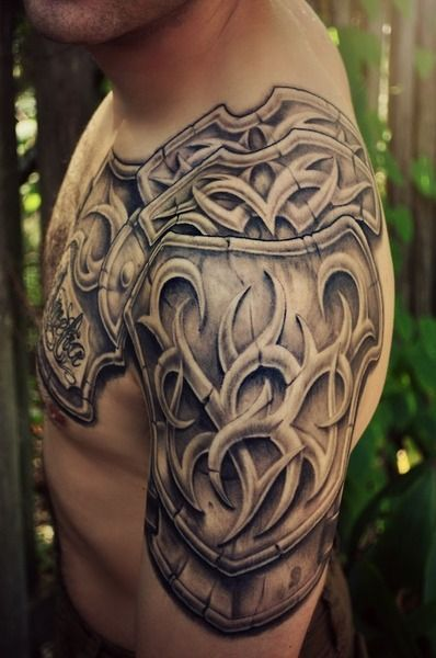 Pin By Isbell Ihalom On Tattoos Shoulder Armor Tattoo Armor Tattoo Half Sleeve Tattoos For Guys