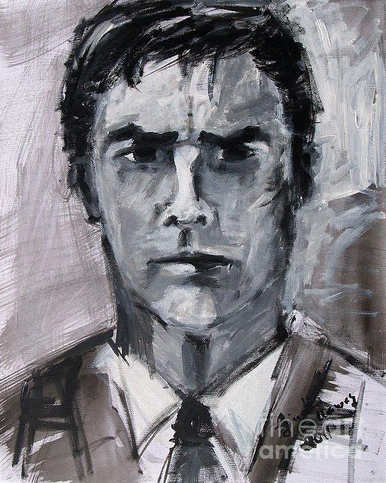 Thomas Gibson Aaron Hotchner Portrait Criminal Minds Sketch