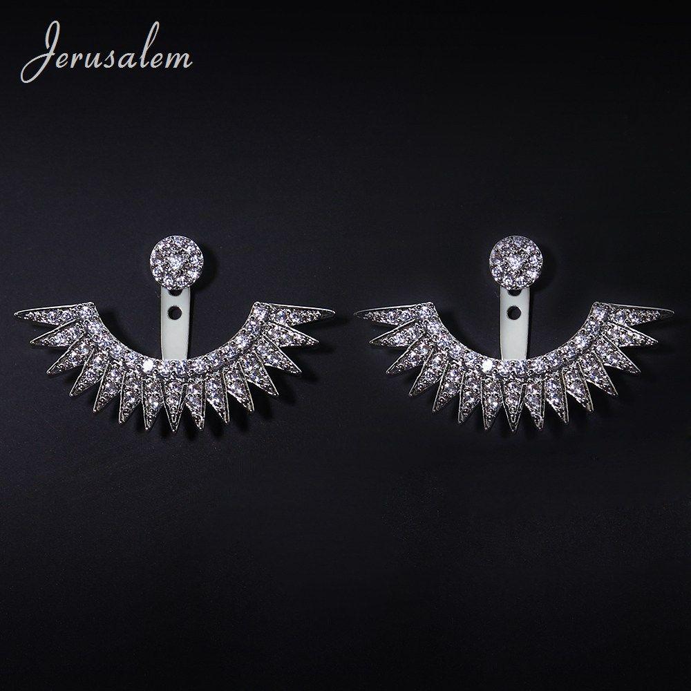 Piercing ideas for girls  Eyelashes Earrings Female Jewelry Silver Color Ear Piercing Stud