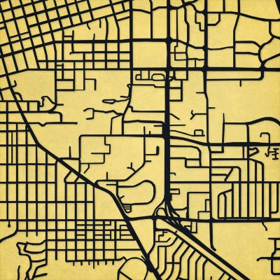 University Of Colorado Boulder Campus Map Art Giftables