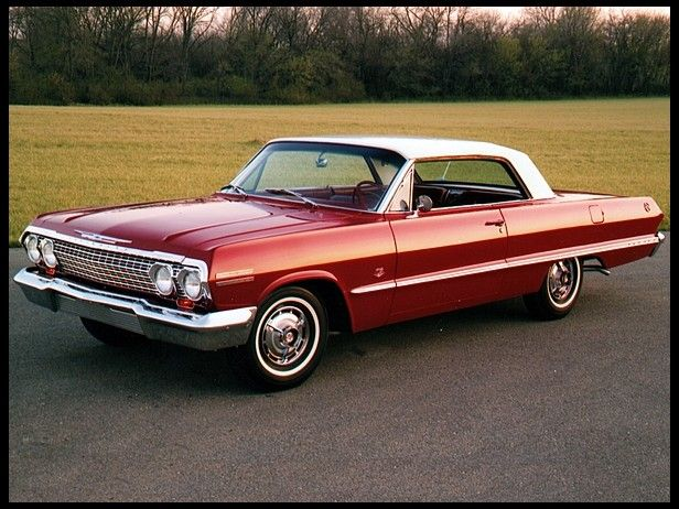 1963 Chevrolet Impala Candy Apple Red With A White Convertible