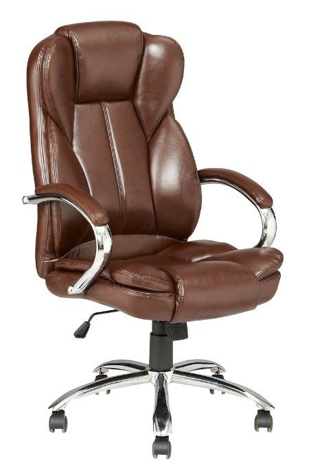 Hgna Chairs Premium Office Chair Comfortable Executive Swivel Computer Chair High Back Faux Leather Upholstered