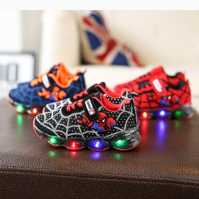 Cartoon Led Lighted Infant Tennis Lovely Kids Shoes Fashion Casual Baby Boys Girls Shoes Noble Cool Children Sneakers Footwear Toddler Boy Tennis Shoes Boys Shoes Boys Tennis Shoes