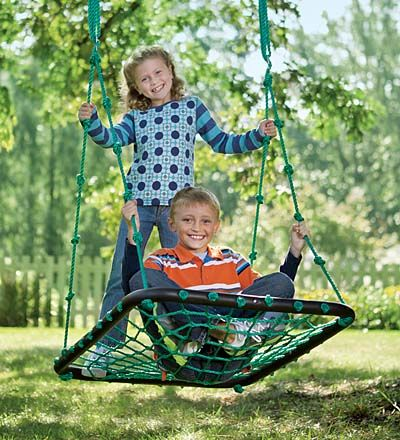 Merveilleux Deluxe Platform Swing 1 U2013 Equal Parts Floating Play Space And Swinging Fun,  Our Platform Swing Is The Perfect Place For Hanging Out With A Friend.
