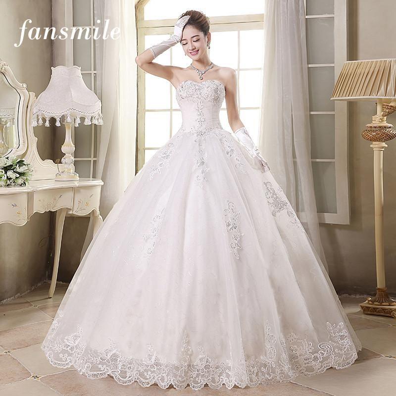 Buy Fansmile Off Shoulder Lace Wedding Dress