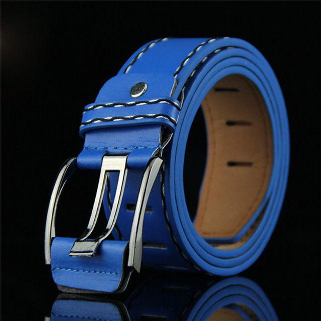 Mens leather smooth girdle buckle waistband waistband leisure belt strap la ceinture mens belt ceinture homme a16
