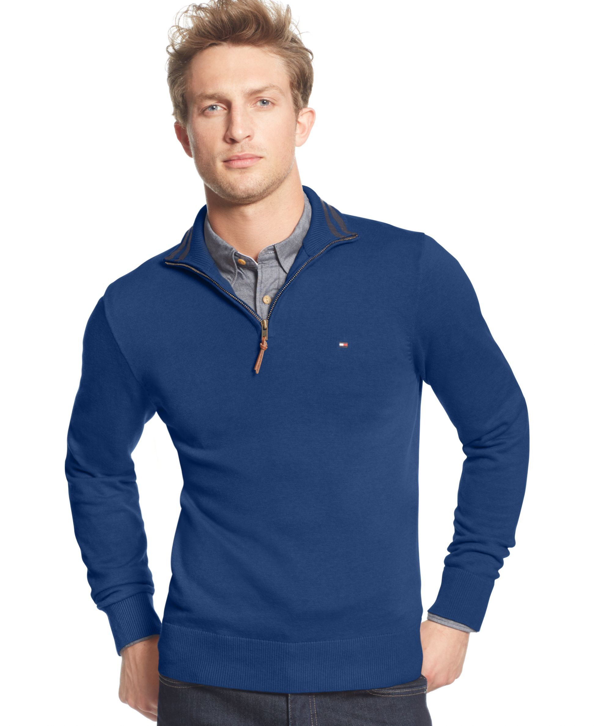Tommy Hilfiger's signature style pullover sweater looks great ...