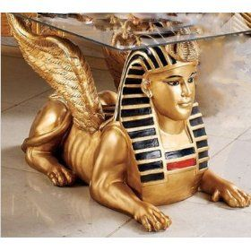 Fantastic Golden Egyptian Sphinx Coffee Table With Glass Top Sculpture Andrewgaddart Wooden Chair Designs For Living Room Andrewgaddartcom
