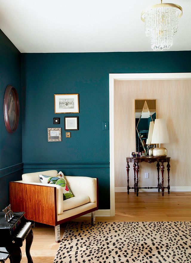 The Painted Chair Rail Trend Teal Rooms Teal Walls Home