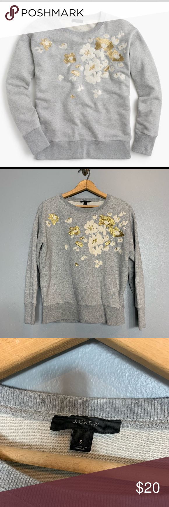 J Crew Terry Floral Embroidered Sweatshirt Embroidered Sweatshirts Dressy Sweatshirt Sweatshirts [ 1740 x 580 Pixel ]