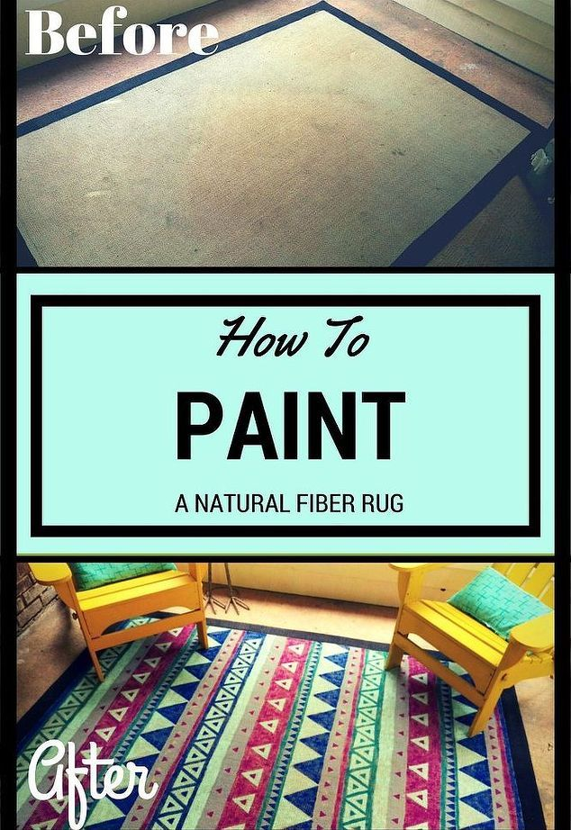 Give An Old Rug New Life By Painting It Natural Fiber Rugs Painted Rug Painting Fabric Furniture