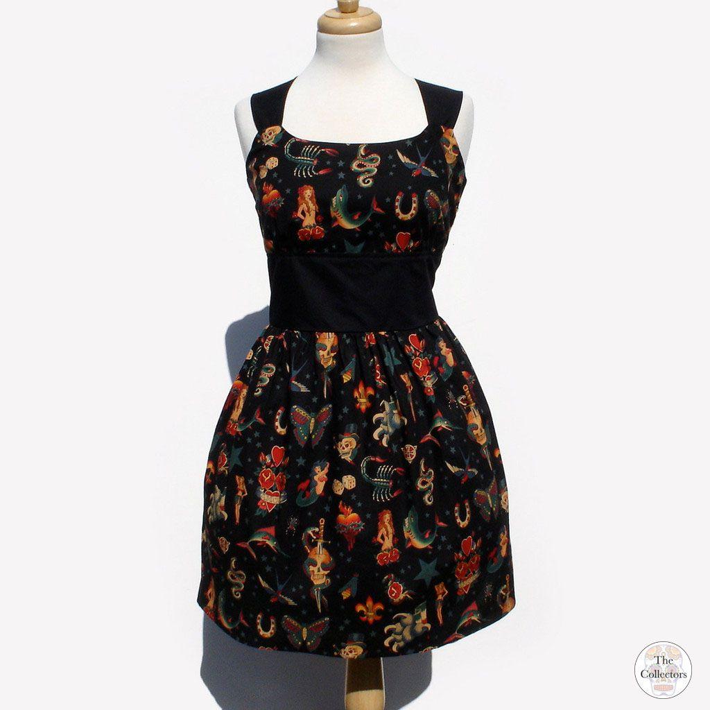 Handmade black tattoo pinup rockabilly dress dresses