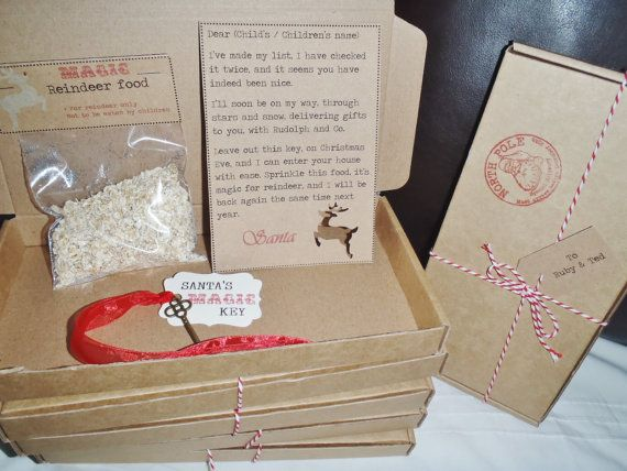 Santas christmas eve box personalised letter magic key reindeer santas christmas eve box personalised letter magic key reindeer food tag spiritdancerdesigns Image collections