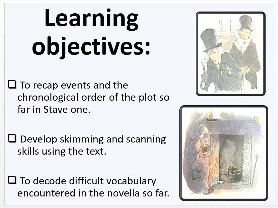 A Christmas Carol: Stave One activity sheets and powerpoint ...