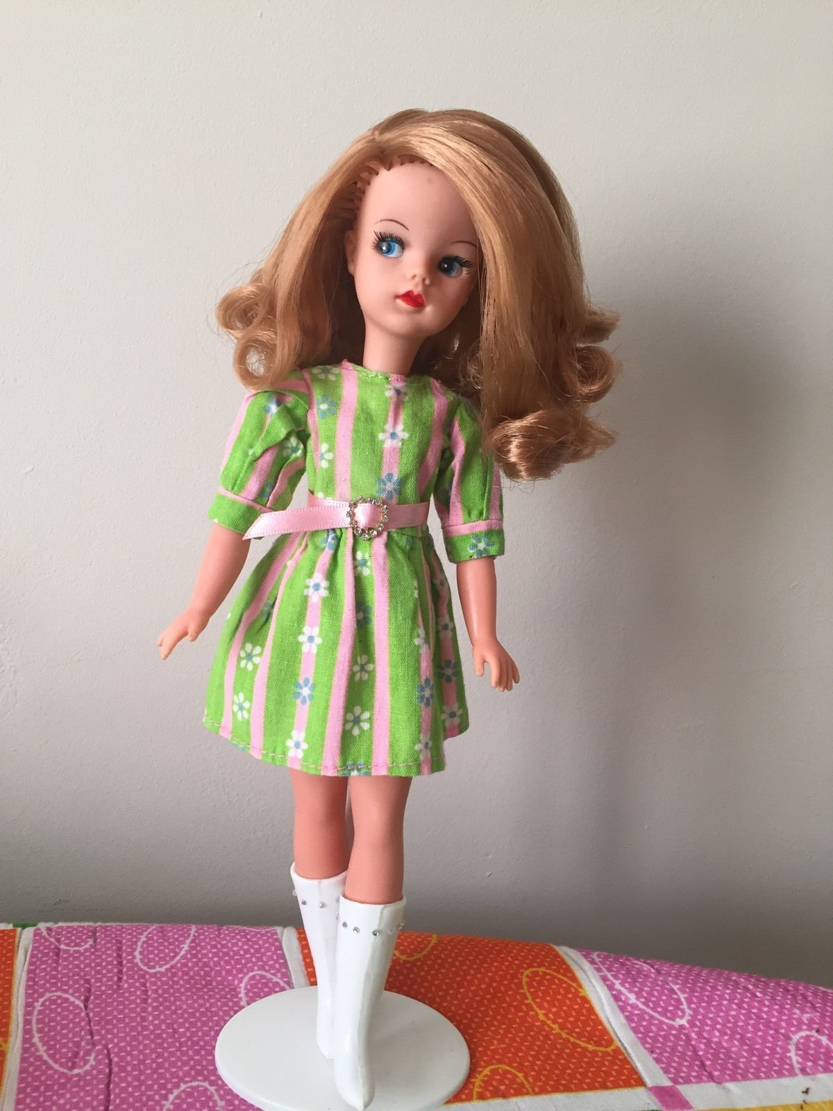 BEAUTIFUL VINTAGE SINDY 60\'s SIDE PART Reroot (free Dress) | eBay ...