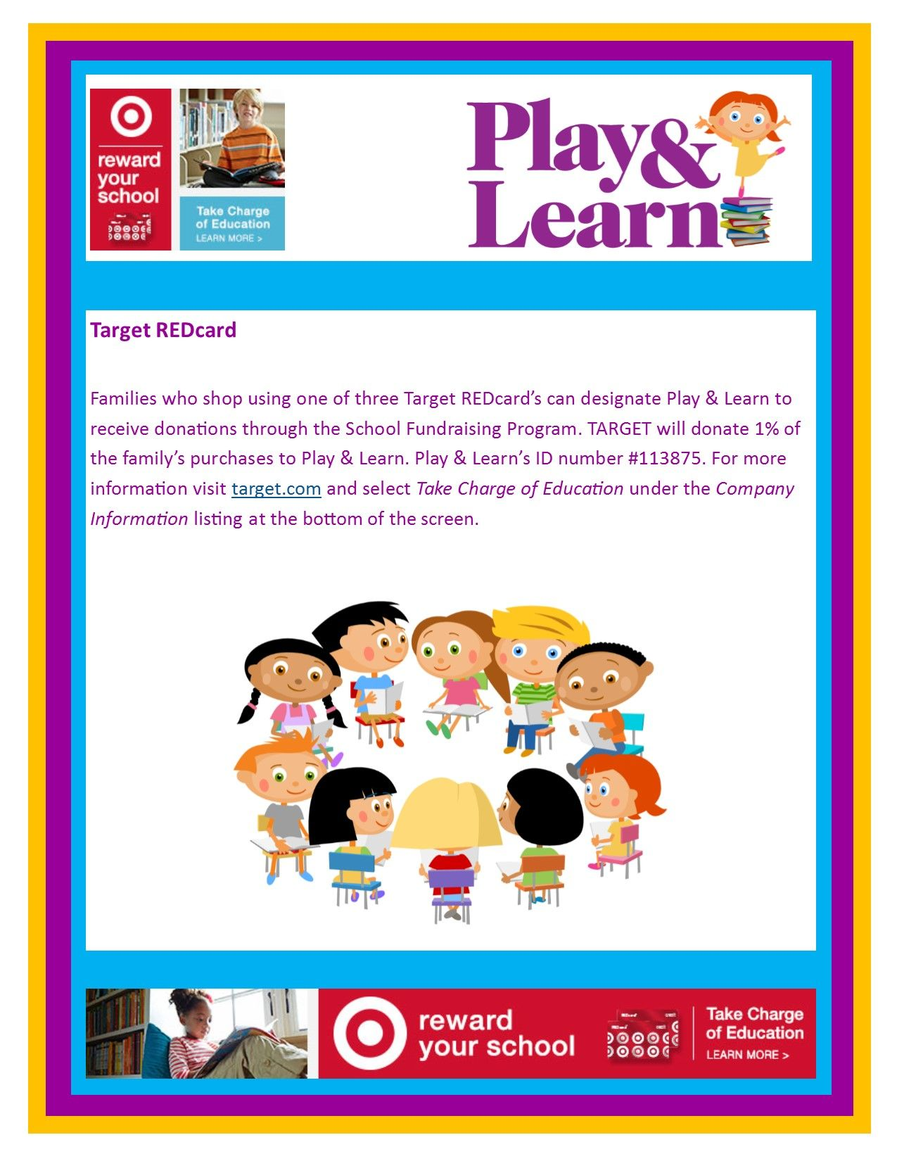 Target RedCard Take Charge of Education Support your