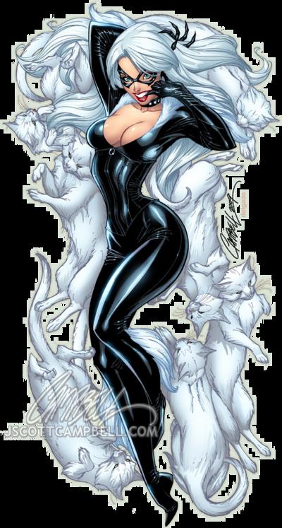 Black Cat Black Cat Marvel Comic Art Scott Campbell