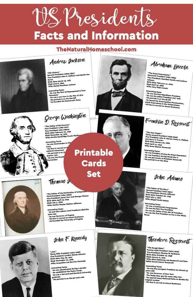 Photo of US Presidents Facts & Information {Printable Cards} – The Natural Homeschool