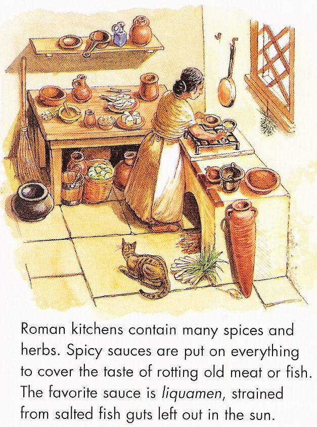 Cucina romana reconstructions of ancient elements for Cuccina romana