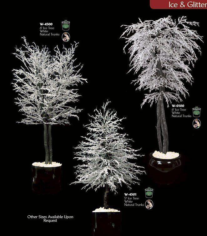 Beautiful Winter Wedding Decorative Trees | Wedding-Ideas ...