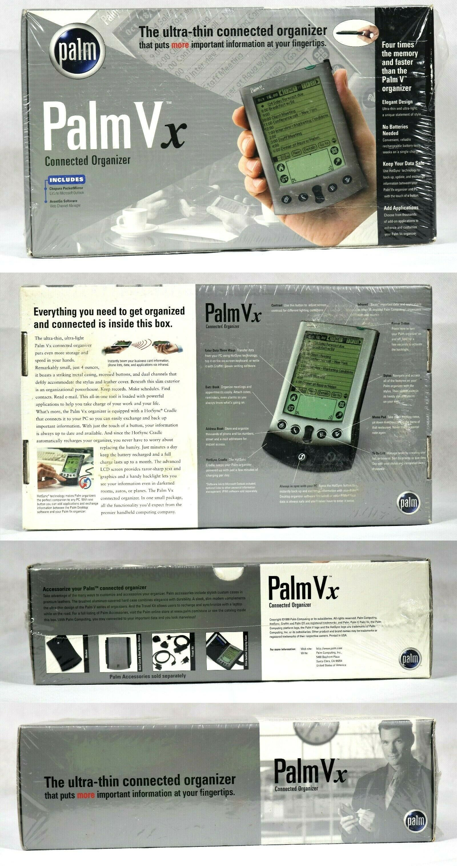 Pdas 38331 New Palm Vx Connected Organizer Pda Factory Sealed New In Box Buy It Now Only 39 77 On Ebay Pdas Hp Ipaq Ebay Electronic address book for seniors