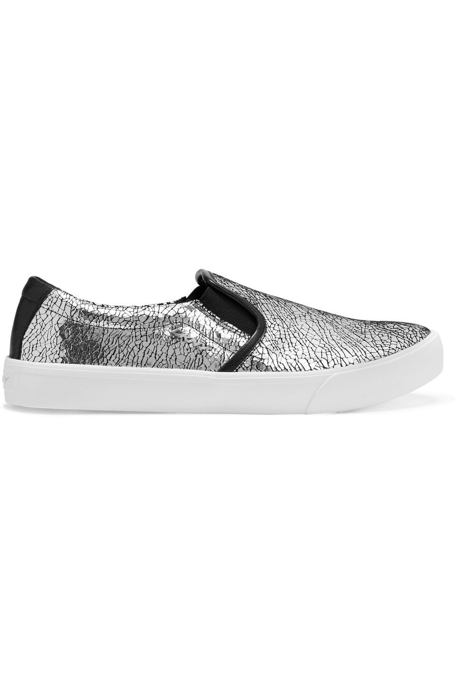 DKNY Cracked metallic leather slip-on sneakers.  dkny  shoes  sneakers 144ab221335