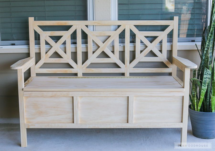 Phenomenal How To Build A Diy Outdoor Storage Bench Carpenter Evergreenethics Interior Chair Design Evergreenethicsorg