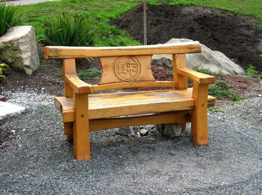 Image result for japanese garden bench plans More
